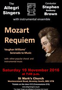 Allegri November 2016 Mozart Requiem Poster