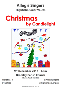 Christmas by Candlelight Poster - December 2017